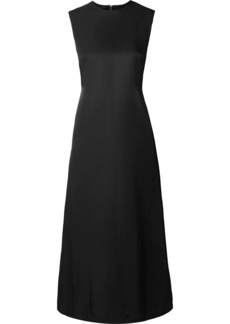 Helmut Lang Open-back Satin-crepe Midi Dress