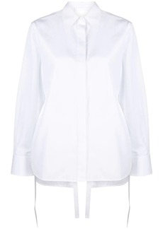 Helmut Lang open-back shirt
