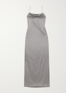 Helmut Lang Open-back Stretch-silk Satin Maxi Dress