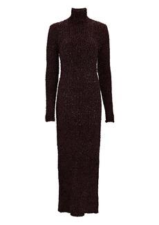 Helmut Lang Open Back Turtleneck Knit Dress