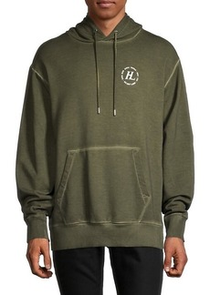 Helmut Lang Overdyed Logo Terry Hoodie