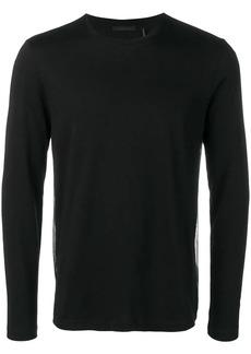 Helmut Lang overlay logo long sleeve top