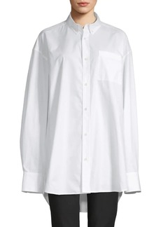 Helmut Lang Oversized Cotton Button-Down Shirt