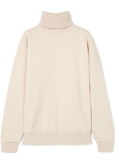 Helmut Lang Oversized Layered Cotton Turtleneck Sweatshirt