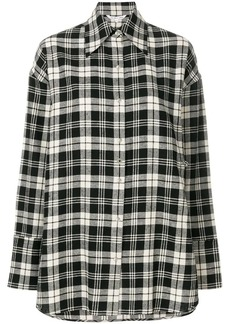 Helmut Lang oversized plaid shirt