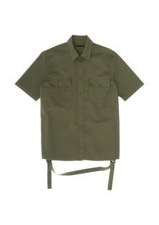 Helmut Lang Oversized Stap Detail Twill Shirt