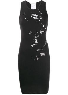 Helmut Lang paint splat-print dress