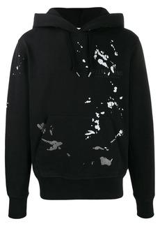 Helmut Lang paint-splatter logo hoodie
