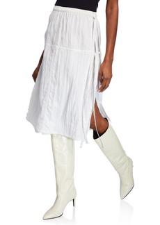 Helmut Lang Parachute Midi Skirt