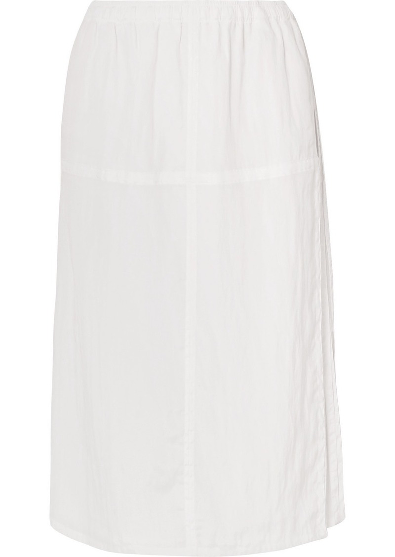 Helmut Lang Parachute Washed-crepe Midi Skirt