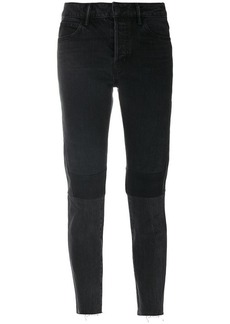 Helmut Lang patchwork cropped jeans