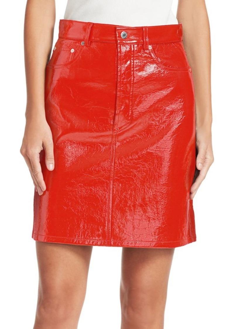 Helmut Lang Patent Leather High-Waist Mini Skirt