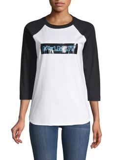 Helmut Lang Pigeon Logo Baseball T-Shirt