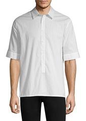 Helmut Lang Pinstripe Short-Sleeve Shirt