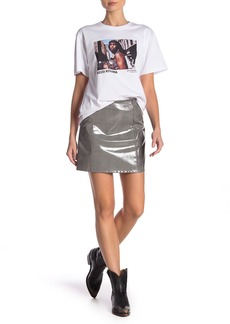 Helmut Lang Plaid Patent Mini Skirt