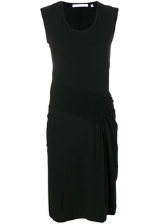 Helmut Lang pleated midi dress