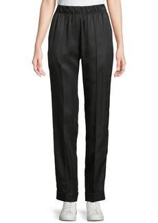 Helmut Lang Pleated Silk-Blend Suit Pants