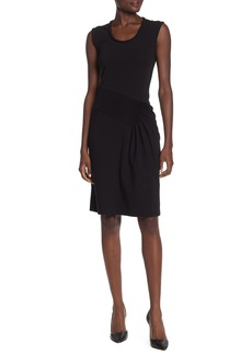 Helmut Lang Pleated Sleeveless Jersey Dress