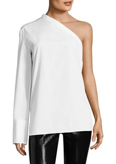 Helmut Lang Poplin One Sleeve Shirt