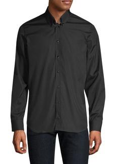 Helmut Lang Press Stud Cotton Sport Shirt