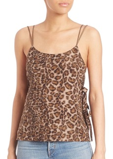 Helmut Lang Printed Spaghetti Strap Top