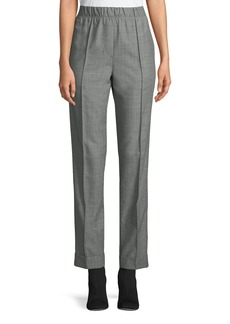Helmut Lang Pull-On Wool-Mohair Suit Pants