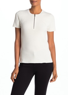 Helmut Lang Quarter Zip Ribbed T-Shirt
