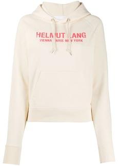 Helmut Lang raglan-sleeves logo hoodie