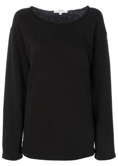 Helmut Lang raw-edge detail sweatshirt