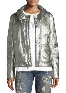 Helmut Lang Re-Edition Metallic Foil Bomber Jacket