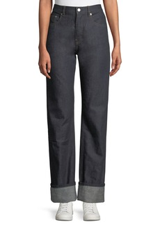 Helmut Lang Re-Edition Turn-Up Straight-Leg Jeans