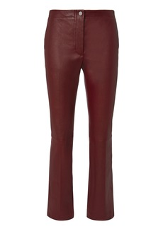 Helmut Lang Red Leather Ankle Pants