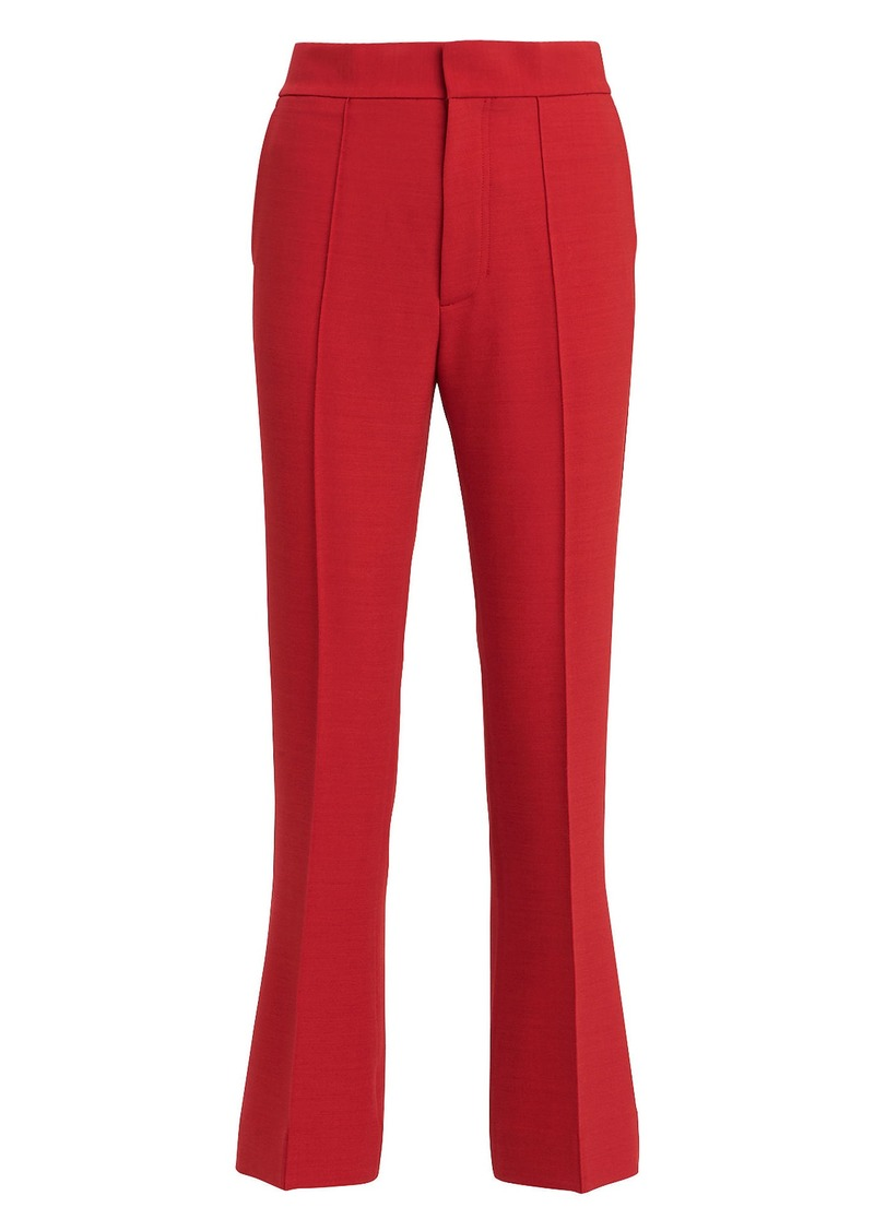 23fc30da629a2 On Sale today! Helmut Lang Red Spongy Wool Crop Flare Trousers