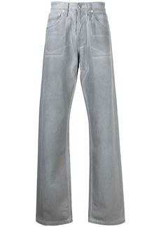 Helmut Lang Reflective Masc Lo Easy mid-rise straight jeans