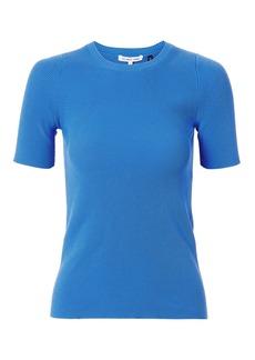 Helmut Lang Rib Knit Essential Blue Tee
