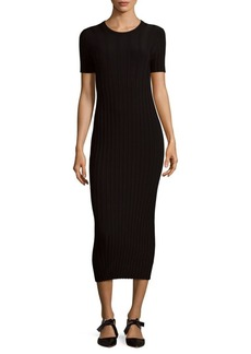 Helmut Lang Rib-Knit Midi Dress