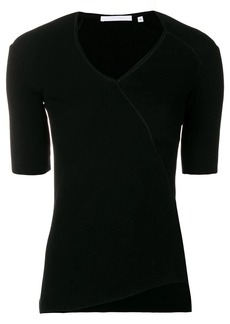Helmut Lang ribbed asymmetric T-shirt