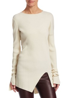 Helmut Lang Ribbed Asymmetric Top