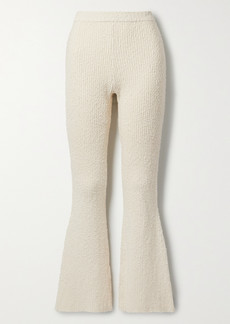 Helmut Lang Ribbed Cotton-blend Boucle Flared Pants