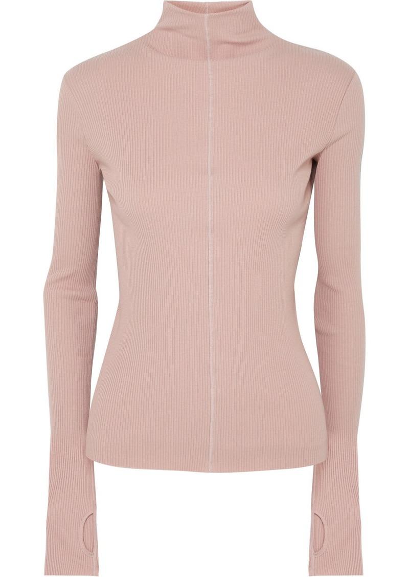 Helmut Lang Ribbed Cotton Turtleneck Sweater
