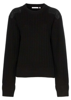 Helmut Lang ribbed elbow patch cotton jumper