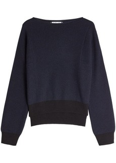Helmut Lang Ribbed Pullover with Cotton, Wool and Cashmere