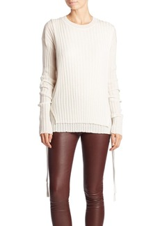 Helmut Lang Ribbed Side-Tie Sweater