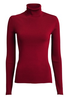 Helmut Lang Ribbed Stretch Turtleneck Top