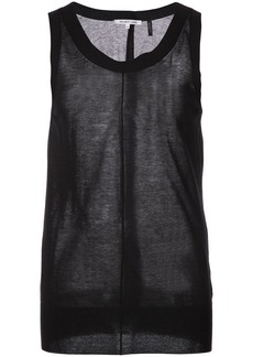 Helmut Lang ribbed trim vest top