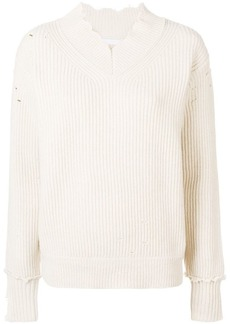 Helmut Lang ribbed v-neck jumper