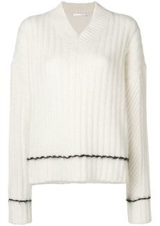 Helmut Lang ribbed V-neck sweater