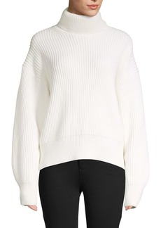 Helmut Lang Ribbed Wool-Blend Sweater