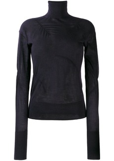 Helmut Lang ruched detail sweater
