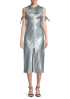 Helmut Lang Ruched Midi Dress